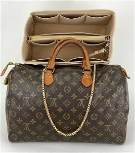 Louis Vuitton Monogram Canvas Speedy 35 Shoulder Bag