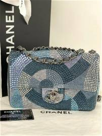 CHANEL Classic Flap Multicolor Crystal Strass small