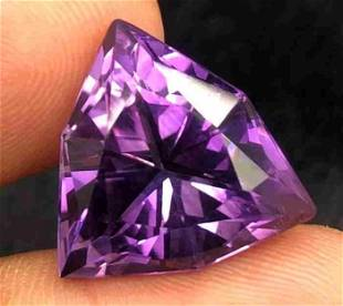 18 Carats Natural Purple Amethyst Fancy Cut