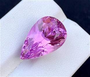 Natural Deep Pink Kunzite Spodumene Loose Gemstone Pear
