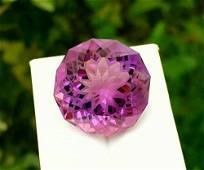 Amethyst, 41.55 Carats Natural Top Color Fancy Flower