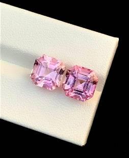 Tourmaline Natural Gemstone Natural Asscher Cut