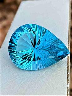 AAA Quality Pear Shape Swiss Blue Topaz - 37.20 Carats