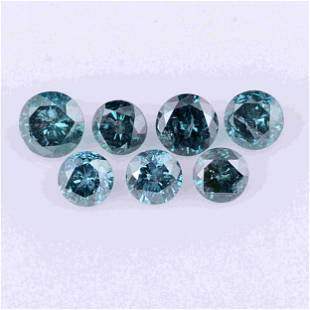 2.09 Carat Fancy Intense Greenish Blue Color Natural