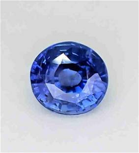 Blue Sapphire Unheated Certified - 1.64 ct