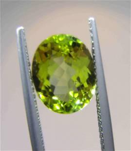 Mint Green Tourmaline Certified - 3.44 ct