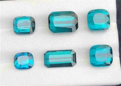 19 Carats Top Blue Natural Tourmaline Collection Pieces