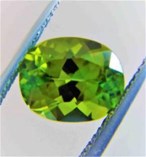 Mint Green Tourmaline Certified - 3.33 ct