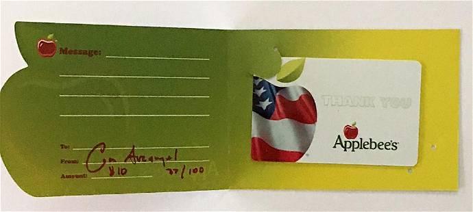 Cory Arcangel $10 Applebee's Gift Card, 2013