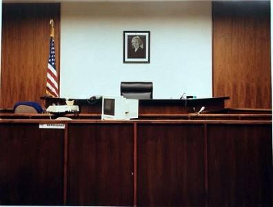 Matt Ducklo color photograph Courtroom:(Sandra Day