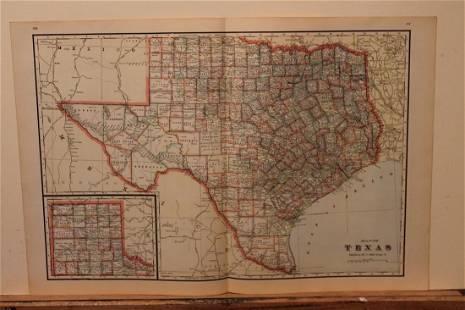 1895 Texas Map