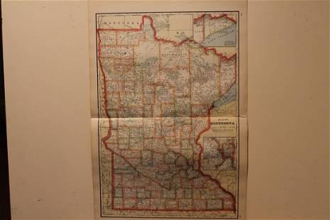 1895 Minnesota Map