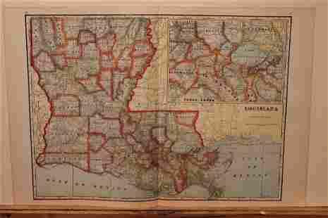 1895 Louisiana Map