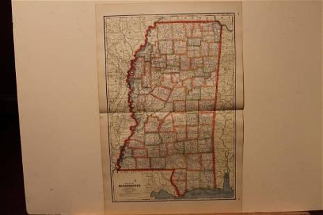 1895 Mississippi Map