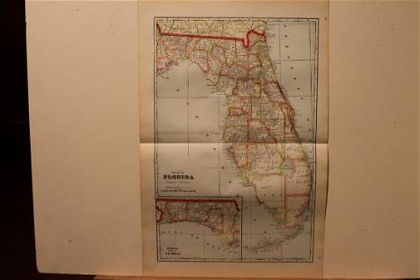 1895 Florida Map