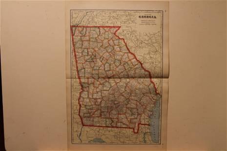 1895 Georgia Map