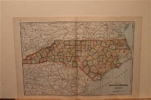 1895 North Carolina Map