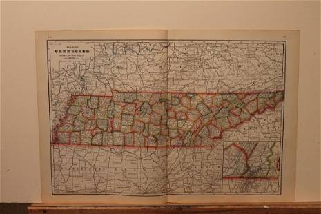 1895 Tennessee Map