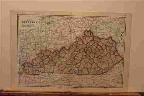 1895 Kentucky Map