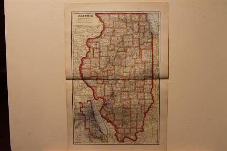 1895 Illinois Map