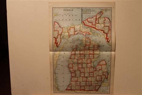 1895 Michigan Map
