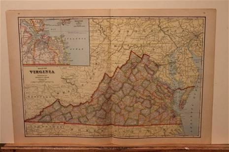 1895 Virginia Map