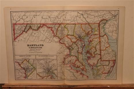 1895 Maryland Map