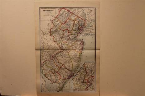 1895 New Jersey Map