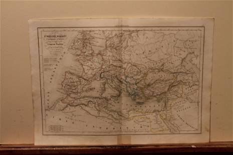 1845 Roman Empire Map