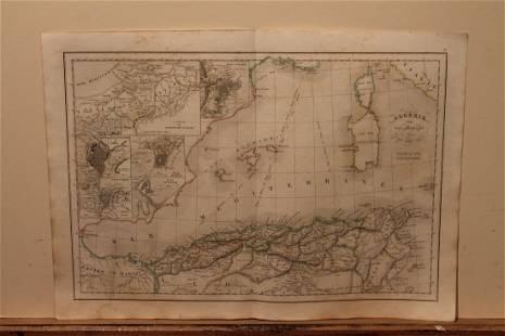 1842 Algeria Map