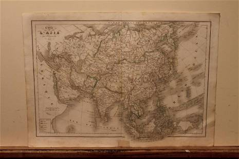 1845 Asia Map