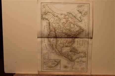 1844 North America Map