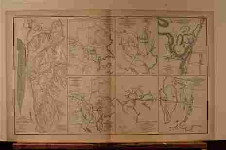 1892 Siege of Vicksburg Civil War Map