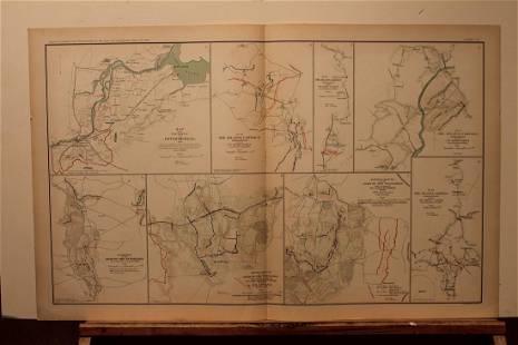 1893 Atlanta Campaign Civil War Map