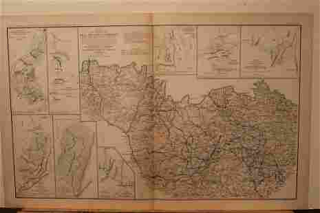 1893 Atlanta Siege Civil War Map