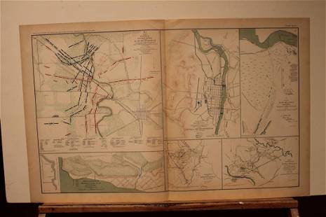 1892 Fredericksburg Battle Civil War Map