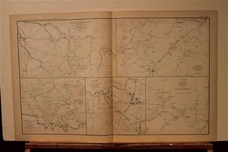 1892 Tennessee Battles Civil War Map