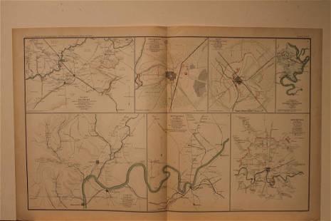 1892 Chattanooga Civil War Map