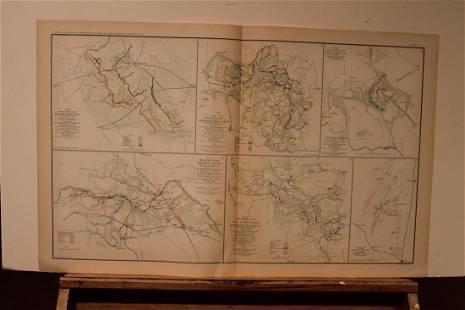 1893 Wilderness Battle Civil War Map