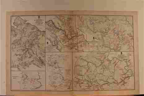 1894 Chickamauga Battle Civil War Map