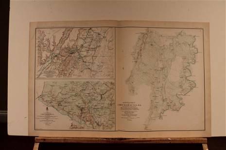 1894 Chattanooga Battle Civil War Map