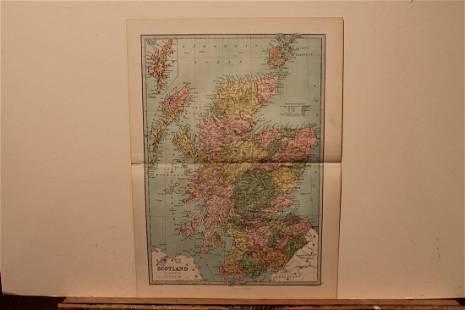 1873 Scotland Map