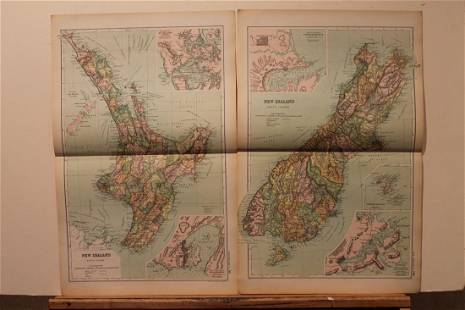 1892 New Zealand Maps