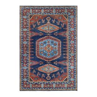 Navy Blue Thick and Plush Persian Viss Design Hand