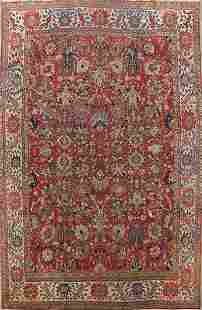 1920s Vegetable Dye Sultanabad Persian Area Rug 10x13