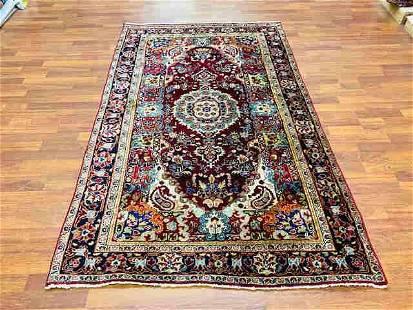 Antique persian Sarouk Rug-4809
