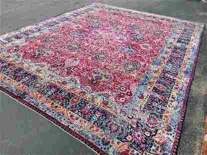 Antique Persian large size Yazd- Kerman Rug-4868