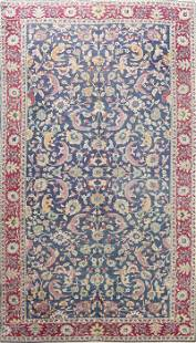 Antique Vegetable Dye Floral Sivas Persian Area Rug