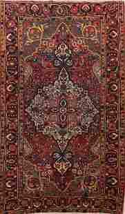Pre-1900 Antique Vegetable Dye Bakhtiari Persian Rug