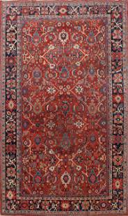 Antique Vegetable Dye Sultanabad Persian Area Rug 9x12